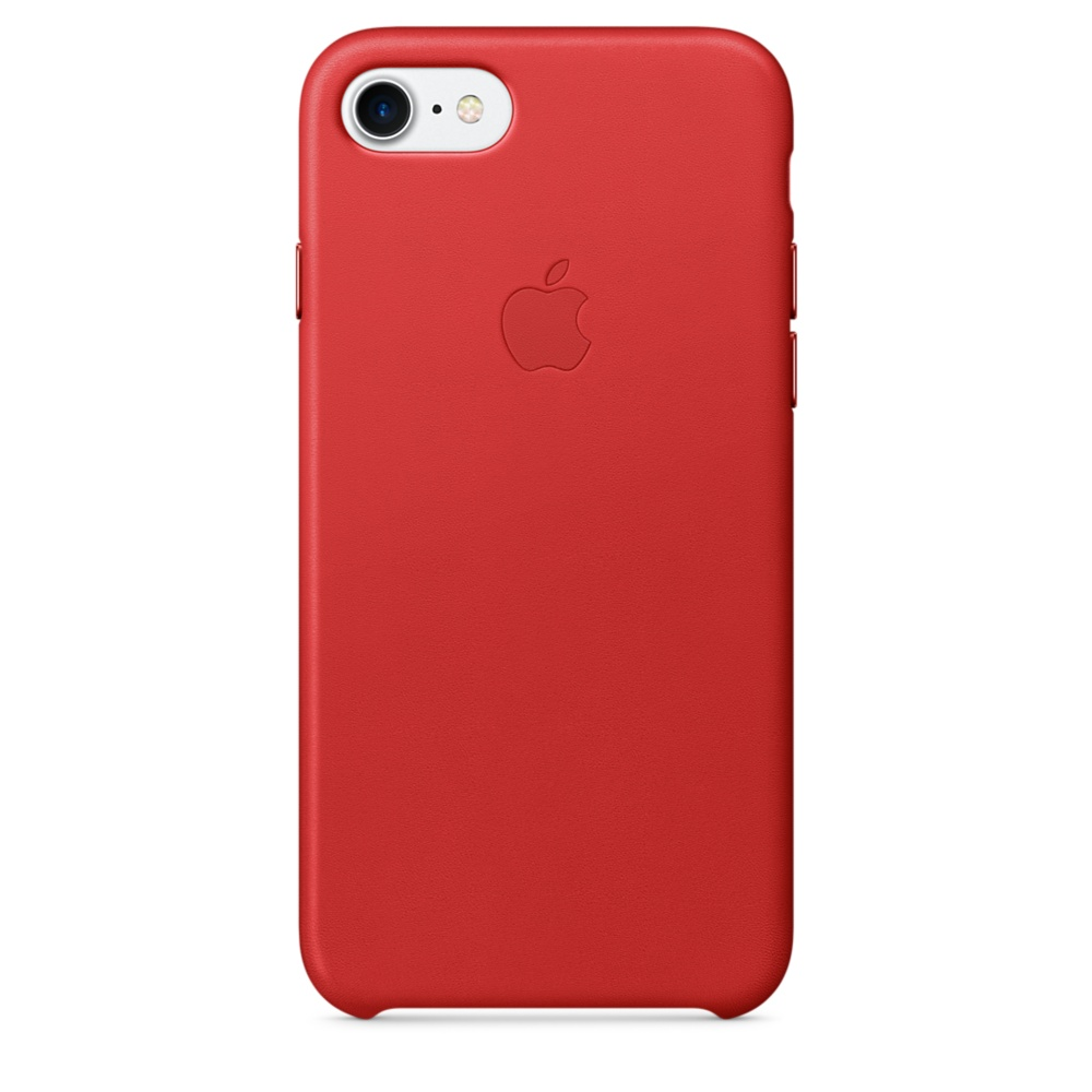 iPhone 7 Leather Case - Red