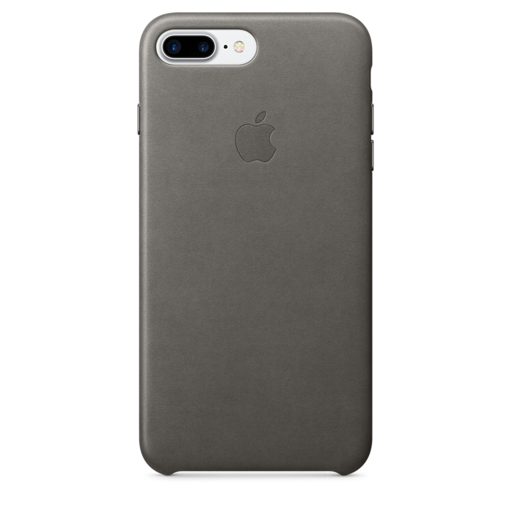 iPhone 7 Plus Leather Case - Storm Gray