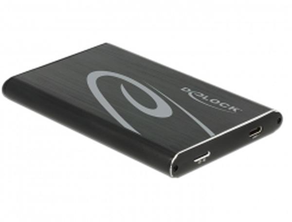 """Delock 2.5"""" externí skříň pro SATA HDD s připojením na SuperSpeed USB 10 Gbps (USB 3.1 Gen 2)"""