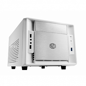CoolerMaster case mini ITX Elite 120 Advance, white, USB3.0, bez zdroje