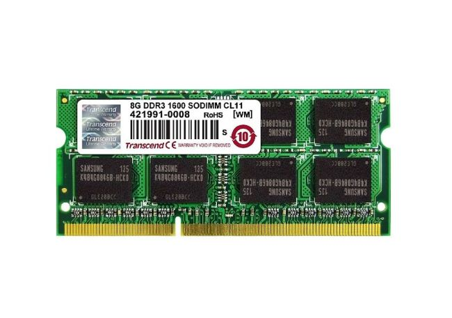 Transcend SODIMM DDR3 4GB 1600Mhz, CL11, 2Rx8