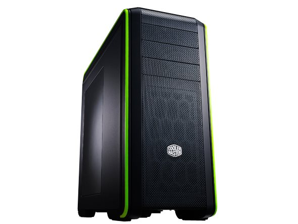 PC case Cooler Master CM 690 III, Green, side panel window, USB 3.0