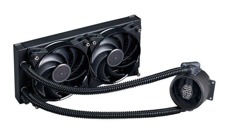 Cooler Master vodní chladič CPU MasterLiquid Pro 240, univ. socket, 2x120mm PWM fan