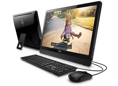 DELL Inspiron AIO 3464/i5-7200U/8GB/1TB/23,8 FHD Touch/Intel HD/DVD RW/Win 10 Pro 64bit/Black