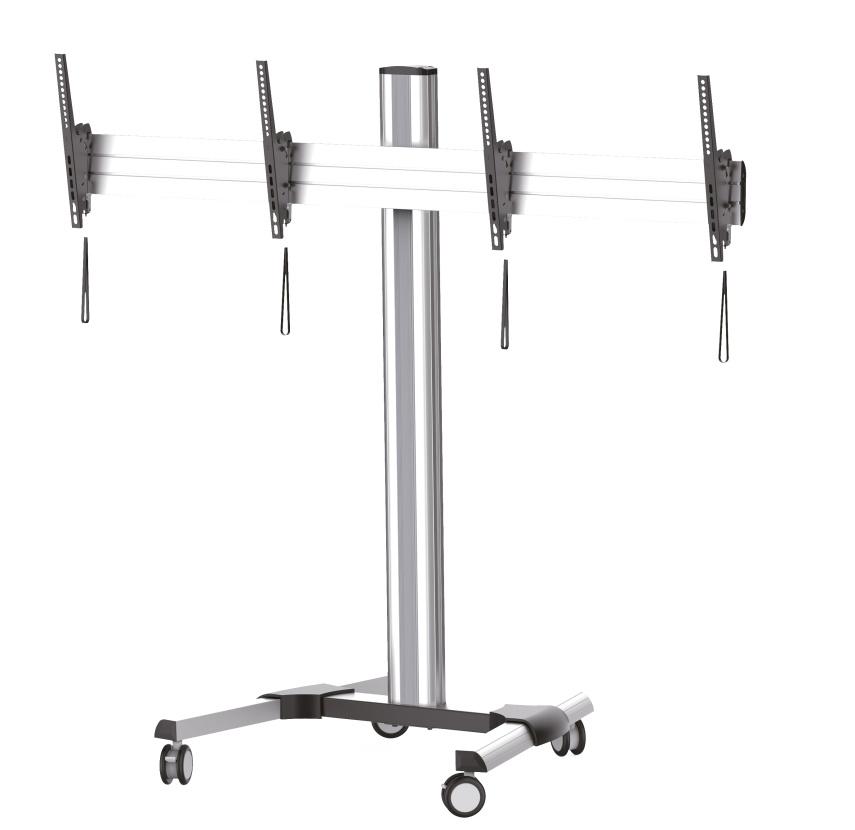 """CONNECT IT TV2 pojízdný stojan & držák na dvě obrazovky 45"""" - 55"""""""