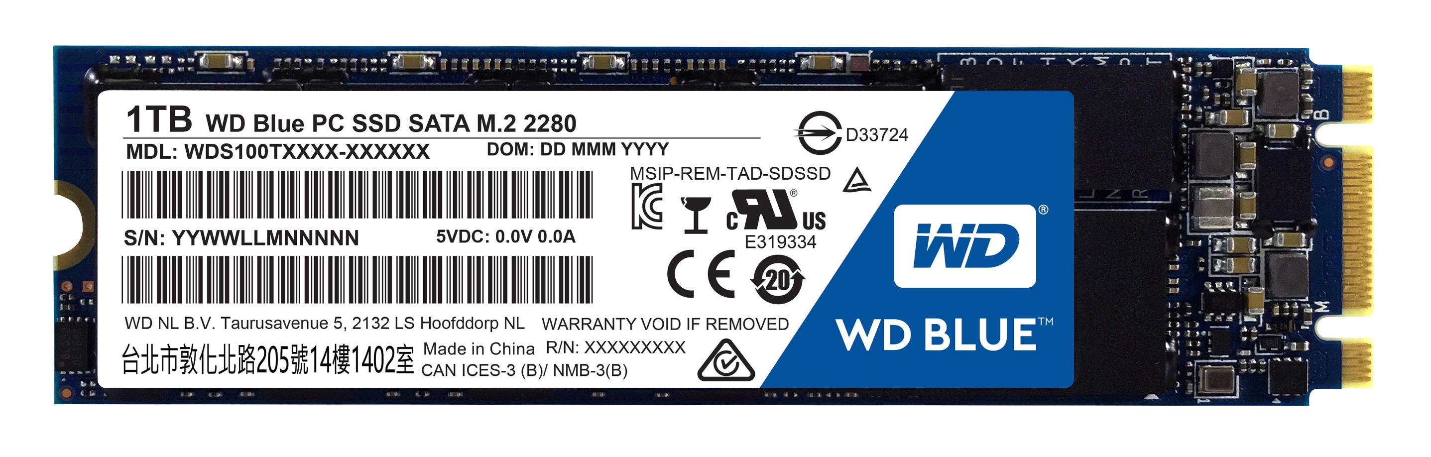 SSD 1TB WD Blue M.2 SATAIII 2280