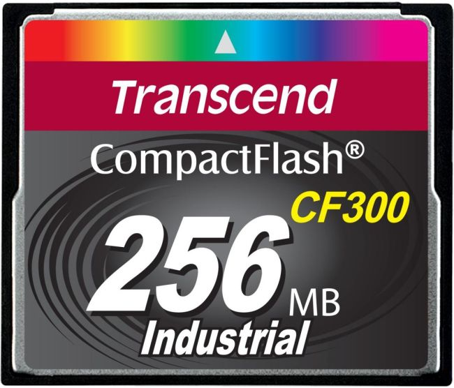 Transcend 256MB INDUSTRIAL CF300 CF CARD, high speed 300X paměťová karta (SLC)