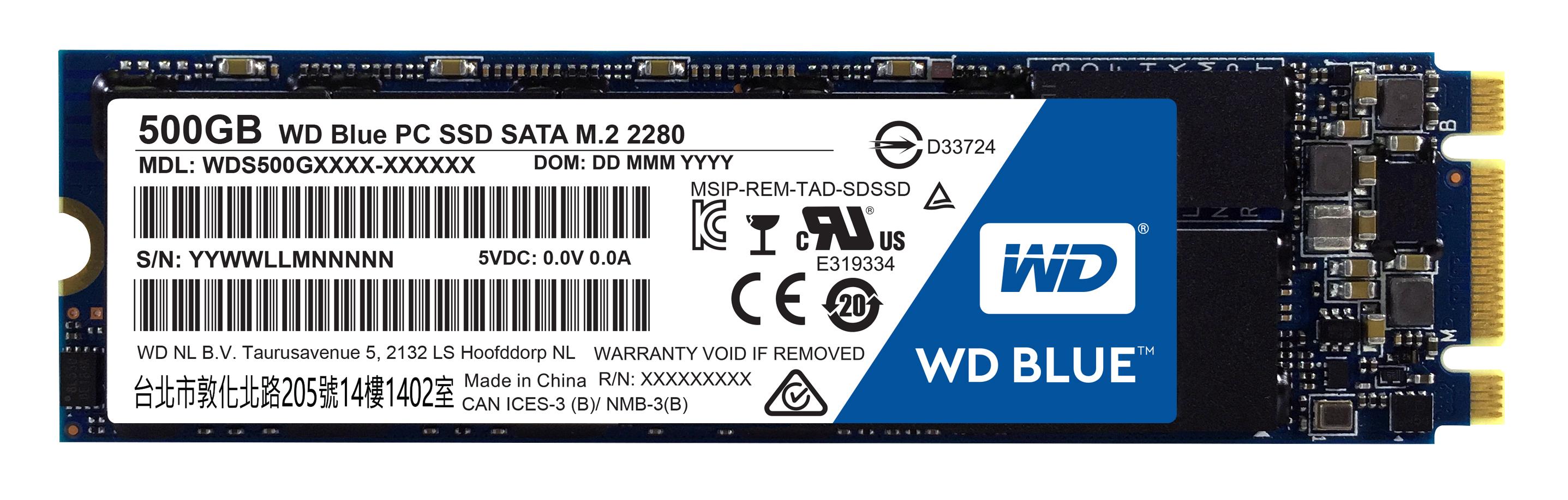 WD BLUE SSD WDS500G1B0B 500GB SATA/600 M.2 2280