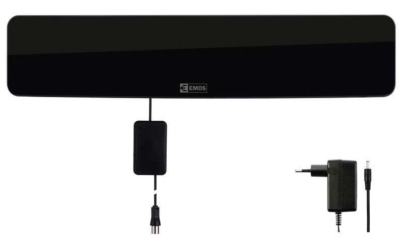 Emos anténa HDC3 - DVB-T2/T anténa pokojová, aktivní 46 dBi, LTE filtr