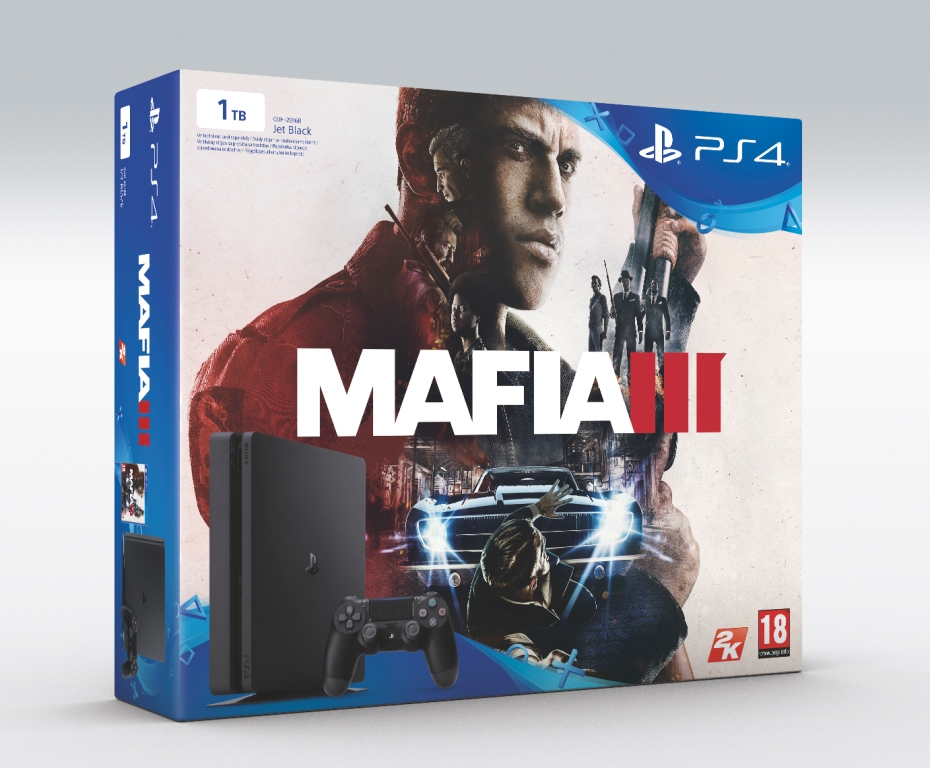 SONY PlayStation 4 Slim - 1TB + MAFIA III