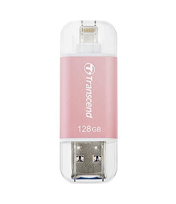 Transcend 128GB JetDrive Go 300, Lightning/USB 3.1, růžový