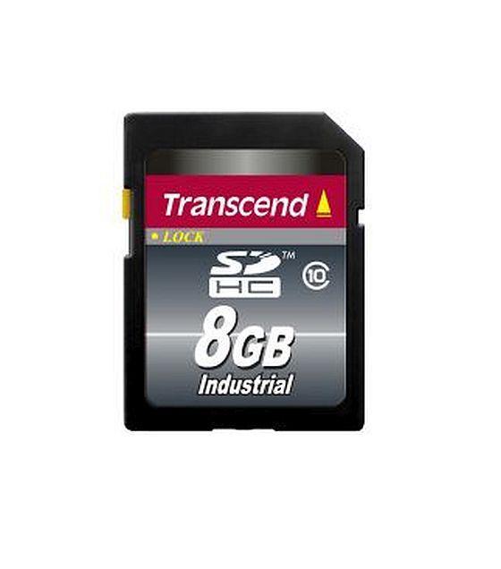 Transcend 8GB SDHC průmyslová paměťová karta, Class 10