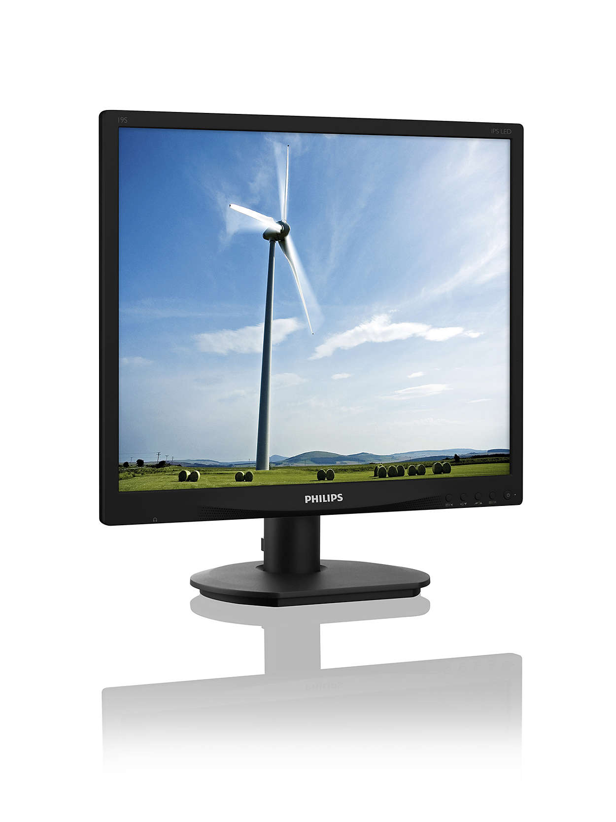 Philips LCD 19S4QAB 19'', LED, IPS-ADS, 5ms, DC20mil,D-Sub/DVI,repro,1280x1024,č
