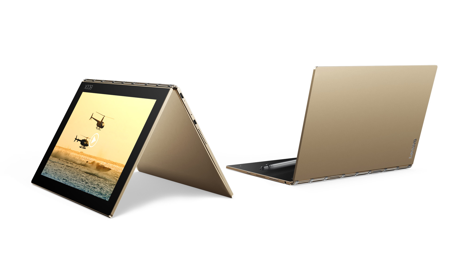 "Lenovo YOGA BOOK ANDROID Atom x5-Z8550 2,4GHz/10,1"" FHD/IPS/multitouch/4GB/64GB/CreatePad/Halo KBRD/WiFi/Android 6 zlatá"