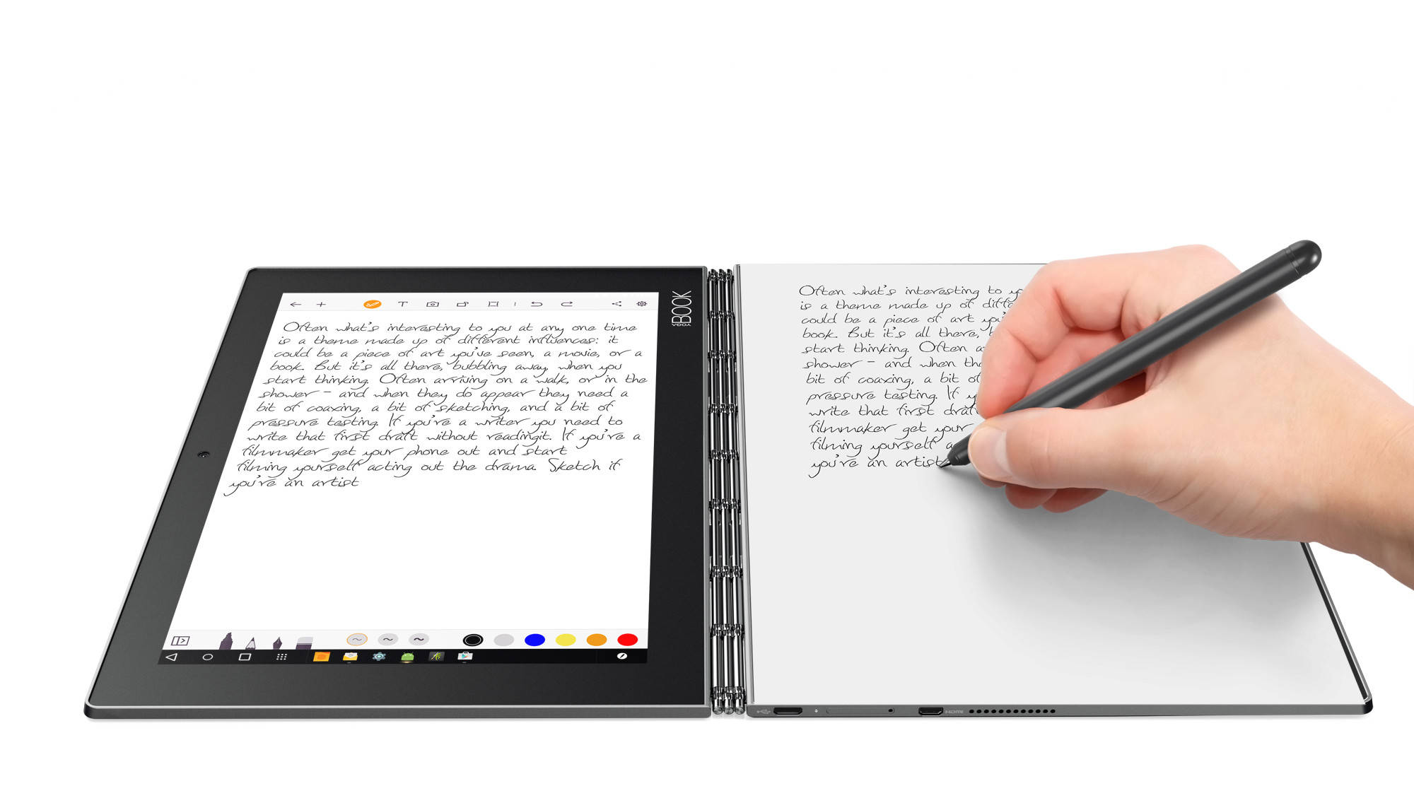 "Lenovo YOGA BOOK AND WiFi Atom x5-Z8550 2,4GHz/4GB/64GB/10,1"" FHD/IPS/multitouch/CreatePad/Halo KBRD/Android 6 šedá"