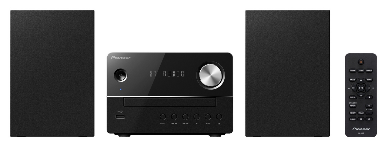Pioneer systém s CD,USB,BT černý