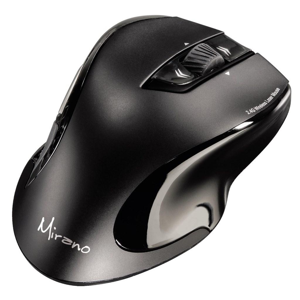 Hama Mirano bezdrátová laserová myš, černá, tichá
