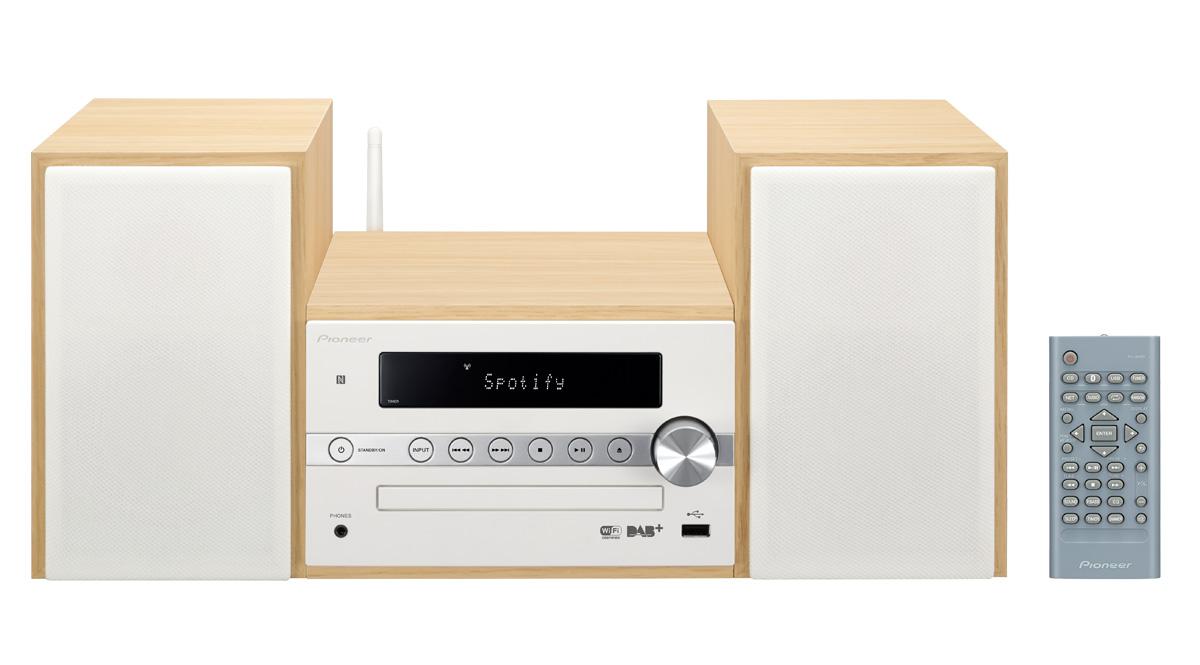 Pioneer systém s CD, USB, BT, NFC, DAB,Wi-Fi bílý