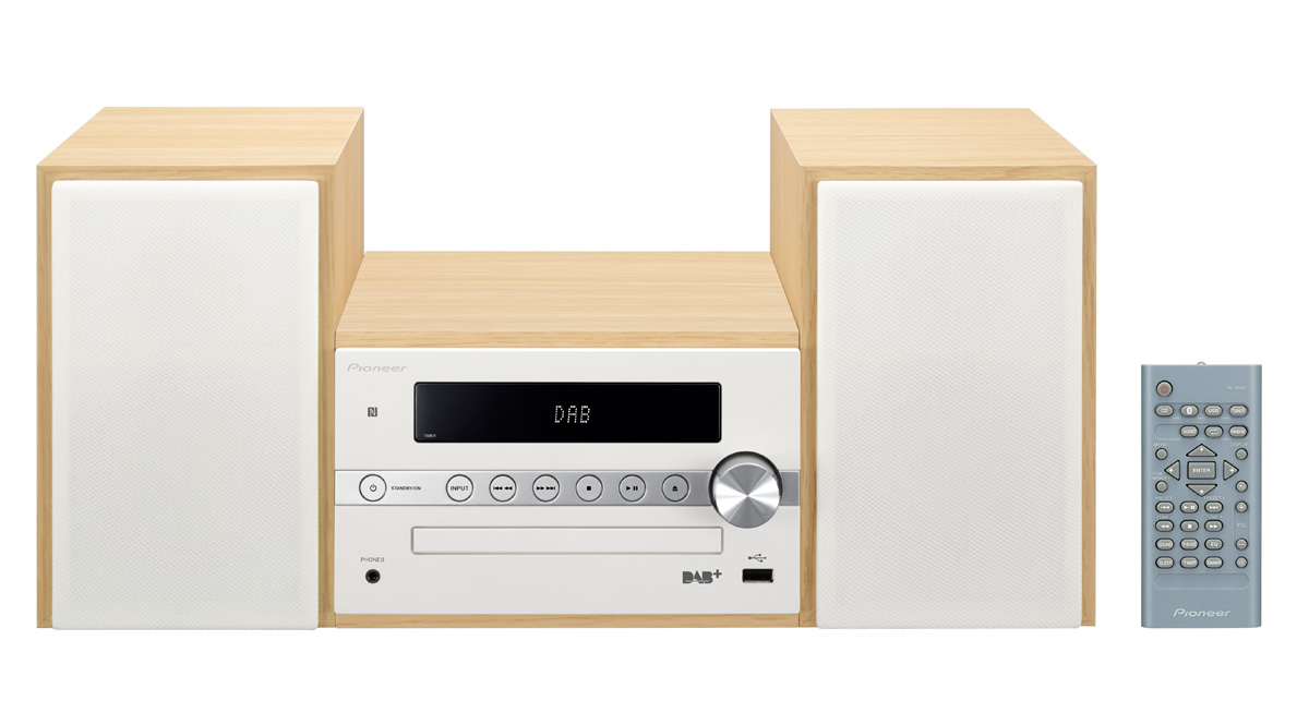 Pioneer mikro systém s CD, USB, BT, NFC, DAB bílý