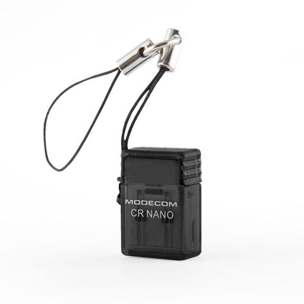 Čtečka paměťových karet micro SD/SDHC Modecom CR NANO - externí (černá)