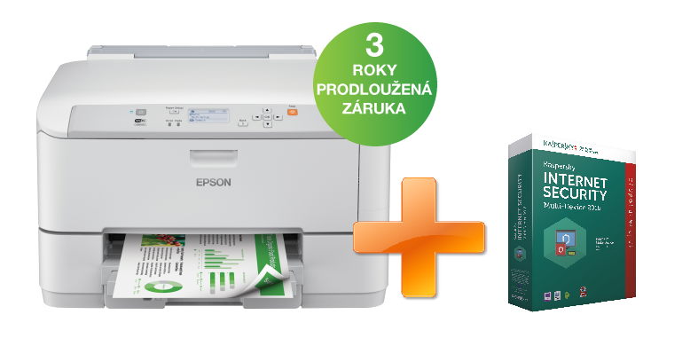 EPSON WorkForce Pro WF-5110DW + Kaspersky Internet Security multi-device 2016 zdarma