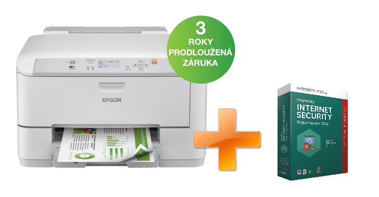 EPSON WorkForce Pro WF-5190DW + Kaspersky Internet Security multi-device 2016 zdarma