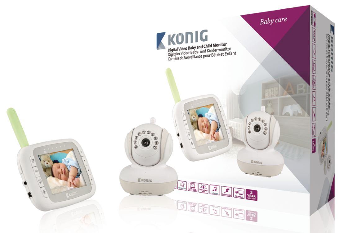 Koenig Digitální dětská a kojenecká videochůvička, 3,5'' LCD, 2.4 GHz