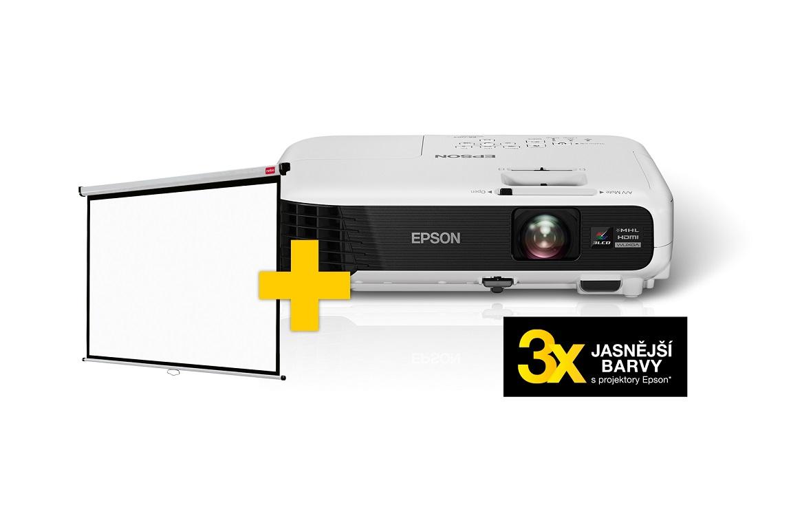 EPSON 3LCD/3chip projektor EB-U04 1920x1200 WUXGA/3000 ANSI/15000:1/2W Repro/(EBU04)