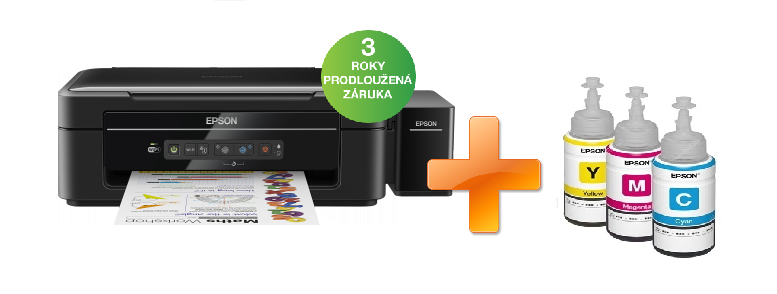 EPSON L386, A4, 5760x1440 dpi, 33/15 ppm + Kaspersky Internet Security multi-device 2016 zdarma