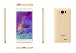 "Accent NEON zlatý, 5"" HD IPS, Quad-core 1,3GHz, Android 6.0, 16GB ROM+2GB RAM,16MP Camera, 2300mAh, LTE"