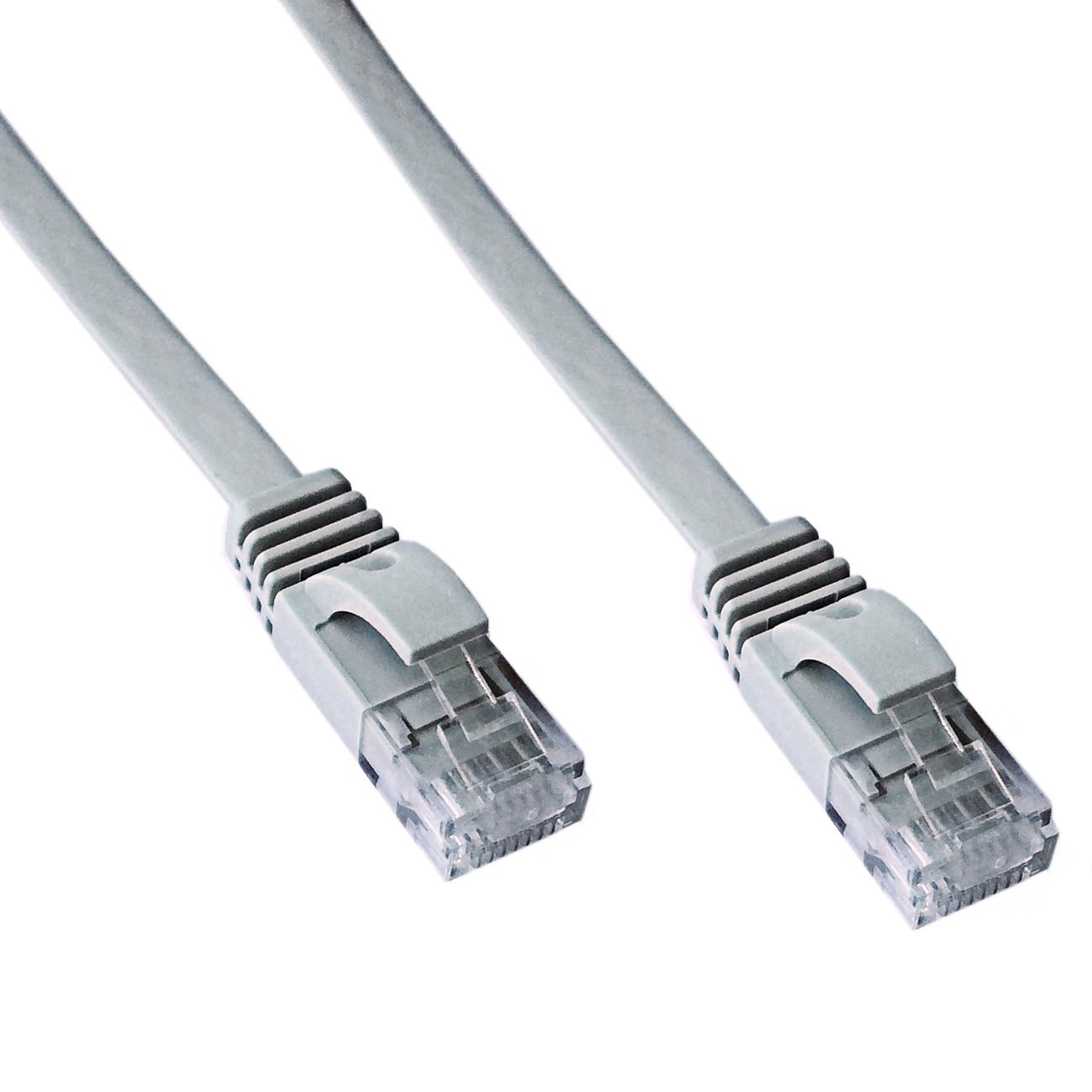 DATACOM Patch cord UTP CAT6 2m šedý FLAT plochý
