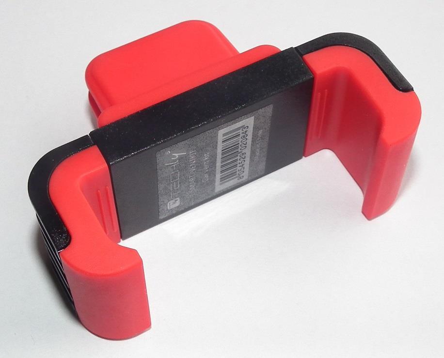 Techly Držák pro smartphony/GPS navigace do mřížky ventilace, červený