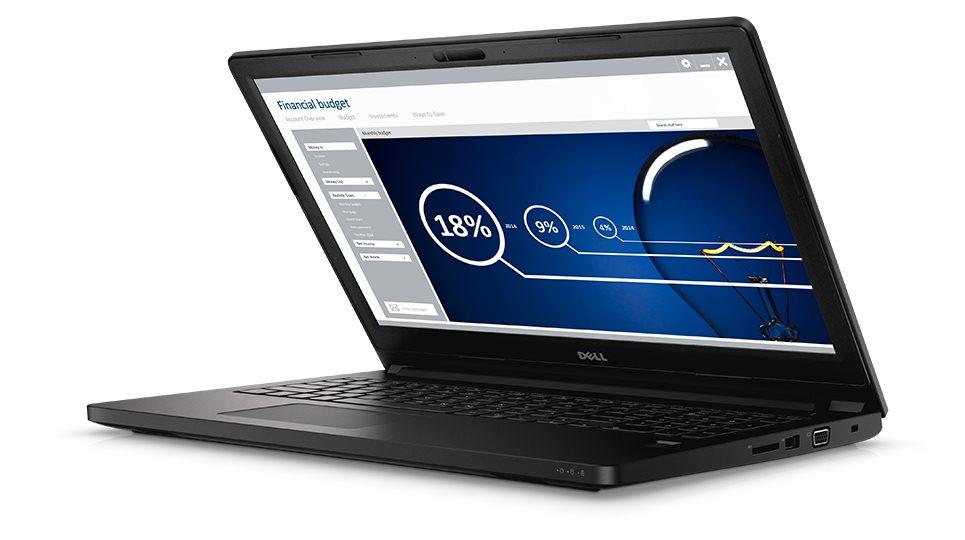 """DELL Latitude 3560/i3-5005U/4GB/500GB 7200 ot./Intel HD/15,6"""" HD/Win7 Pro ANG+Win 10 Pro MUI 64bit/Black"""