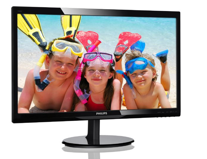 "Philips LCD 246V5LDSB 24""wide LED/1920x1080/1ms/10mil:1/VGA/DVI/HDMI"