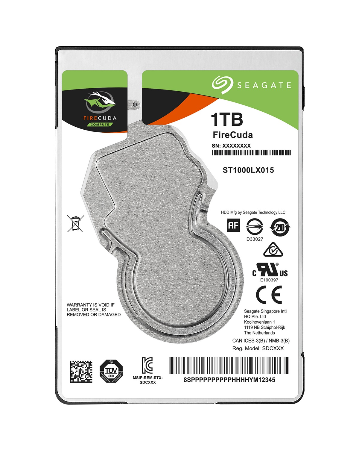 "Seagate FireCuda SSHD, 1TB HDD, 8GB SSD, 2.5"", SATAIII, 128MB cache, 5.400RPM"