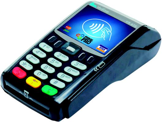 X-POS Platební terminál VX675 -WiFi + Bluetooth + baterie - SKLADOVKA