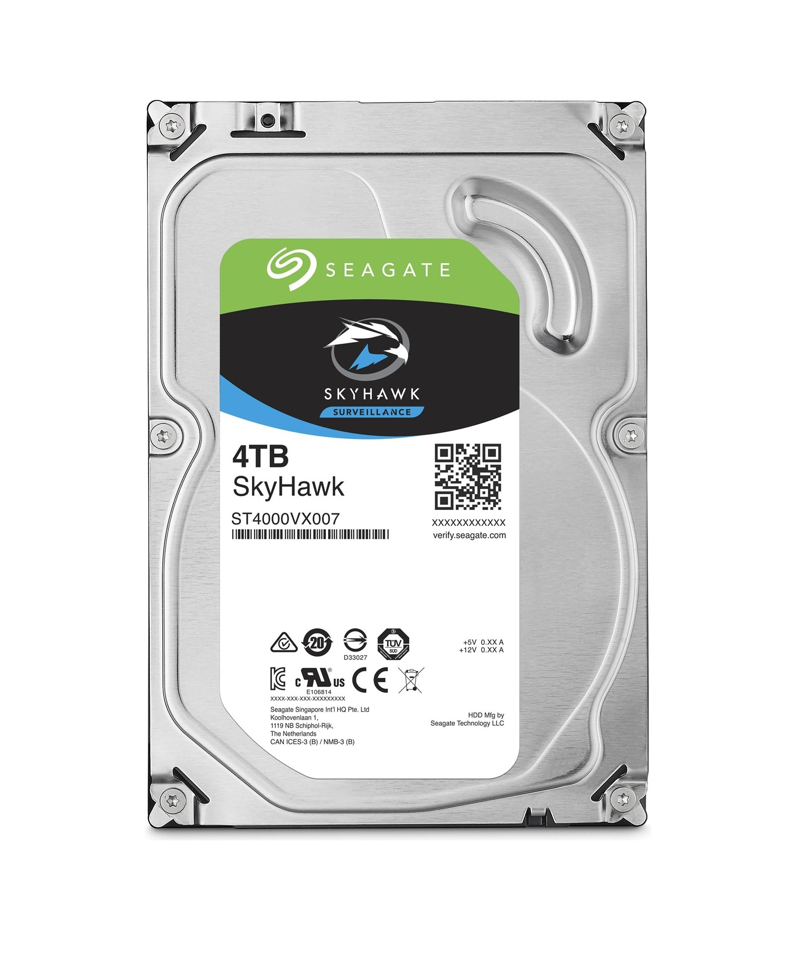 Seagate SkyHawk HDD, 4TB, SATAIII, 64MB cache, 5.900RPM