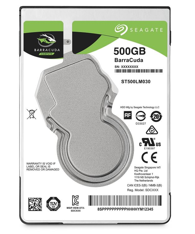 "Seagate BarraCuda 2.5"" HDD, 500GB, 2.5"", SATAIII, 128MB cache, 5.400RPM"