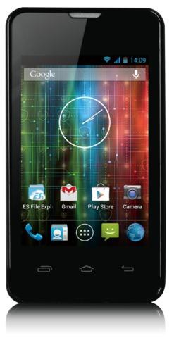"PRESTIGIO MultiPhone PAP3350DUO 3.5"", Dual SIM, 1GHz dual-core, 480*320, Android 4.2, 512MB, Wi-Fi, 3G, černý, bazar"
