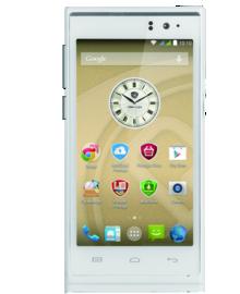 "PRESTIGIO MultiPhone 5505, 5""HD IPS, Dual SIM, Android 4.4, Quad Core 1.3Ghz, 1GB RAM, 13Mpx, microSD, GPS,bílý, bazar"