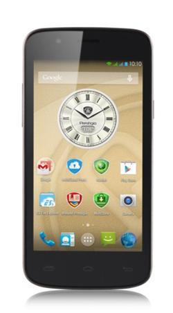 "PRESTIGIO MultiPhone 5504 DUO,5""qHD IPS,Dual SIM,Android 4.4, Quad Core 1,3GHz,8GB ROM,1GB RAM,MicroSD,černý,opravený"