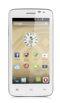 "PRESTIGIO MultiPhone 3501 DUO, 5"", Dual SIM, Android 4.2, 4GB,MicroSD slot,3G,GPS,3000 mAh, bílý, BAZAR"