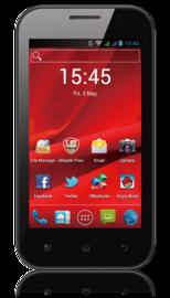 "PRESTIGIO MultiPhone PAP4044DUO 4.0"", Dual SIM, 800*480, Android 4.1, 4GB, MicroSD slot, Wi-Fi, 3G, GPS, černý, bazar"