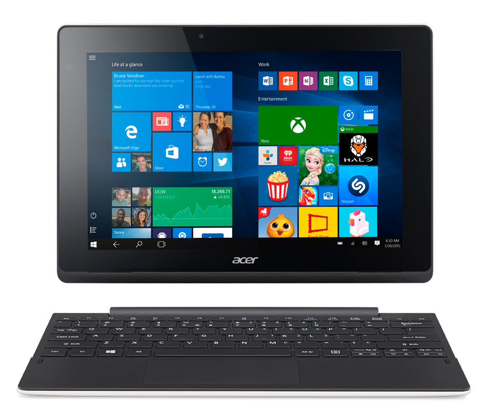 "Acer Aspire Switch 10 E (SW3-016-14U6) Z830/10""1200x800/2GB/64GB/W10 Home/docking White"