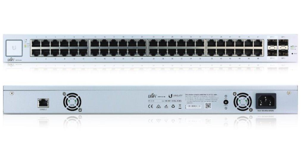 UBNT UniFi Switch US-48 [48xGigabit, ! bez PoE !, 2xSFP + 2xSFP+, non-blocking 70Gbps]