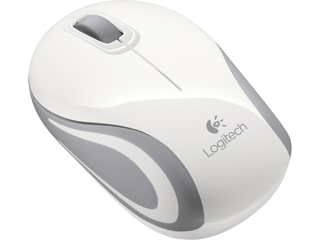 Logitech myš Wireless Mini Mouse M187 white, nano přijímač