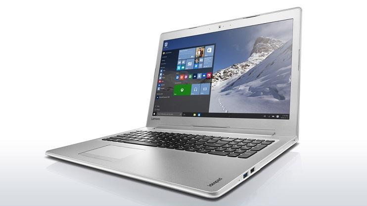 """Lenovo IdeaPad 510-15ISK i7-6500U 3,10GHz/8GB/1TB/15,6"""" FHD/AG/GeForce 4GB/WIN10 bílá 80SR00AFCK"""