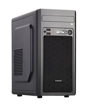 EVOLVEO M2, case mATX, 2x USB2.0 / 1x USB3.0 / 2x 120mm LED / 1x 140mm/ černý
