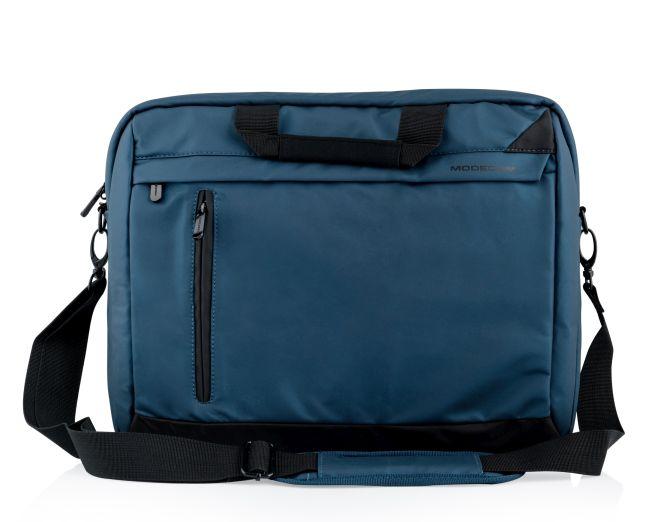 """Modecom brašna ABERDEEN na notebooky do velikosti 15,6"""", kovové přezky, 6 kapes, tmavě modrá"""