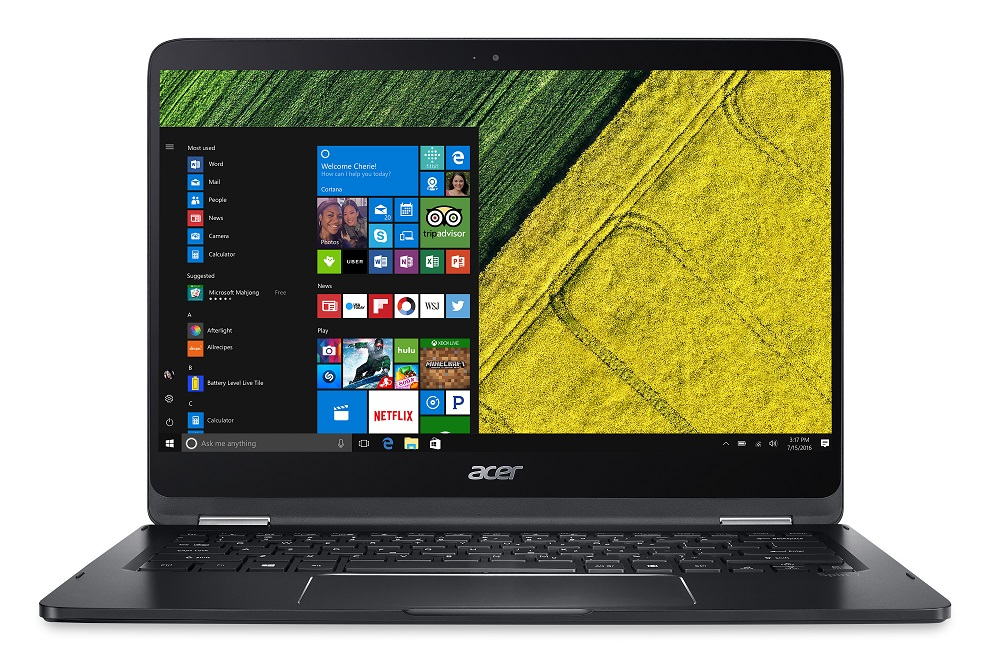 "Acer Spin 7 (SP714-51-M23G) i7-7Y7/8GB+N/256GB SSD+N/HD Graphics/14"" FHD IPS Multi-touch/BT/W10 Pro/Black"